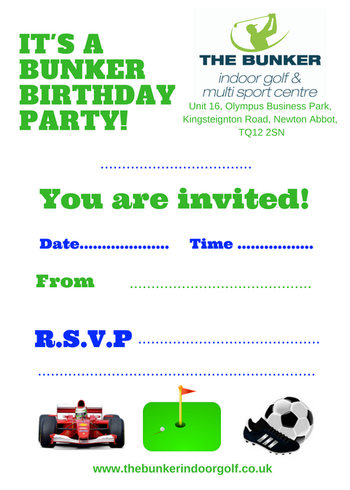 birthday party sports devon