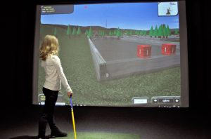 family holiday indoor golf