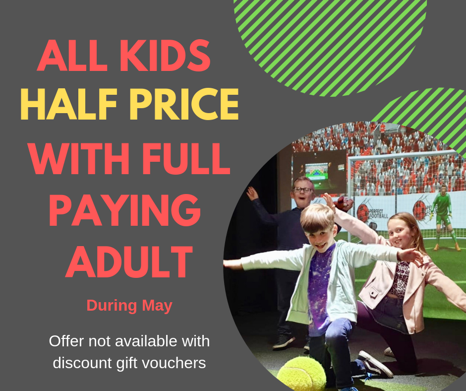 Kids play for HALF PRICE in May